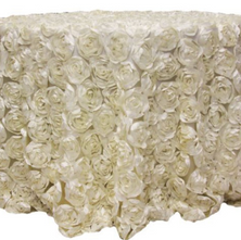 Ivory rose Table cloth