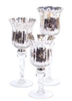 Silver Mercury glass trio