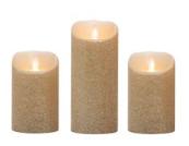 Gold Glitter LED candles