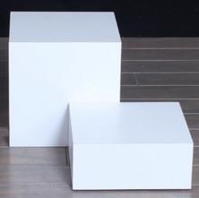 Modern white risers