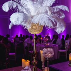 Ostrich feather centrpiece/1920s Art Deco decor