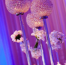 Crystal globe centerpieces
