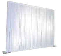 White Pipe and Drape curtain
