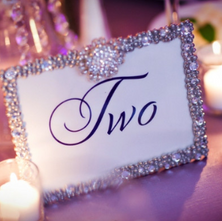 Crystal Table number and frame
