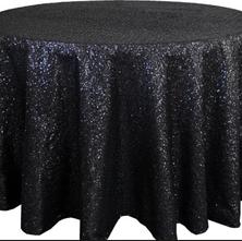Black sequin Table cloth