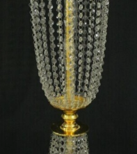 Gold and Crystal centerpiece base