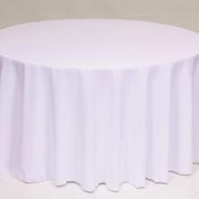 White polyester Table Linen