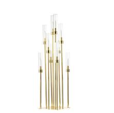 Modern Gold Candle Centerpiece