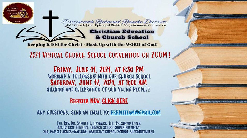 PRRD Church School Convention Flier 2021