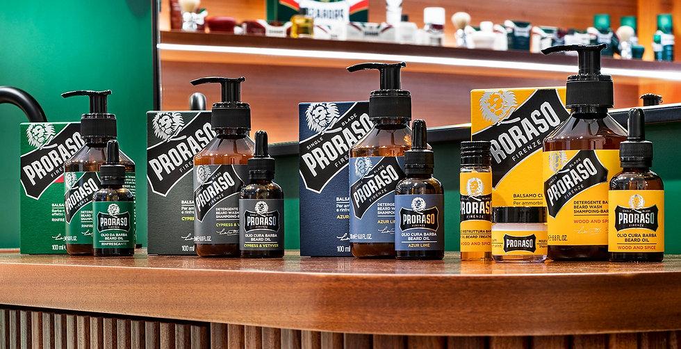 מוצרים לזקן לטיפוח הזקן של פרורסו במגוון ניחוחות ורכיבים טבעיים