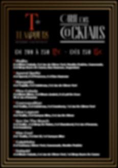 Carte Des Cocktails Templiers Juin 2020