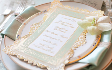Wedding Menu Event Stationery