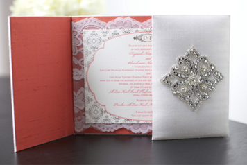 Silk Boxed Lace Invitation