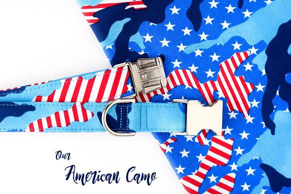 American Camo Dog Collar