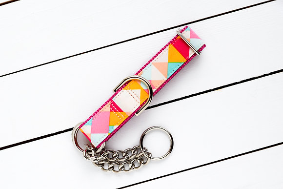 Summer Geometric Dog Collar