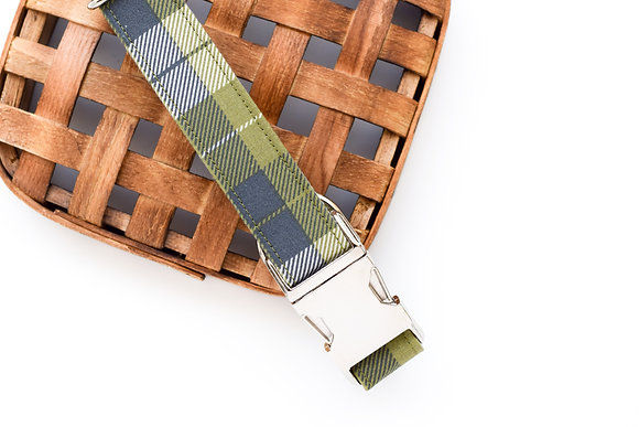 Green Plaid Fabric