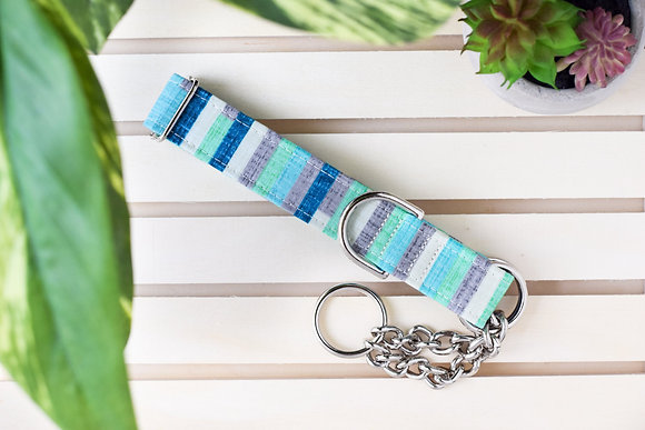 Spring's Blue and Green Dog Collar
