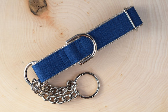 Blue Dog Collar w/webbing