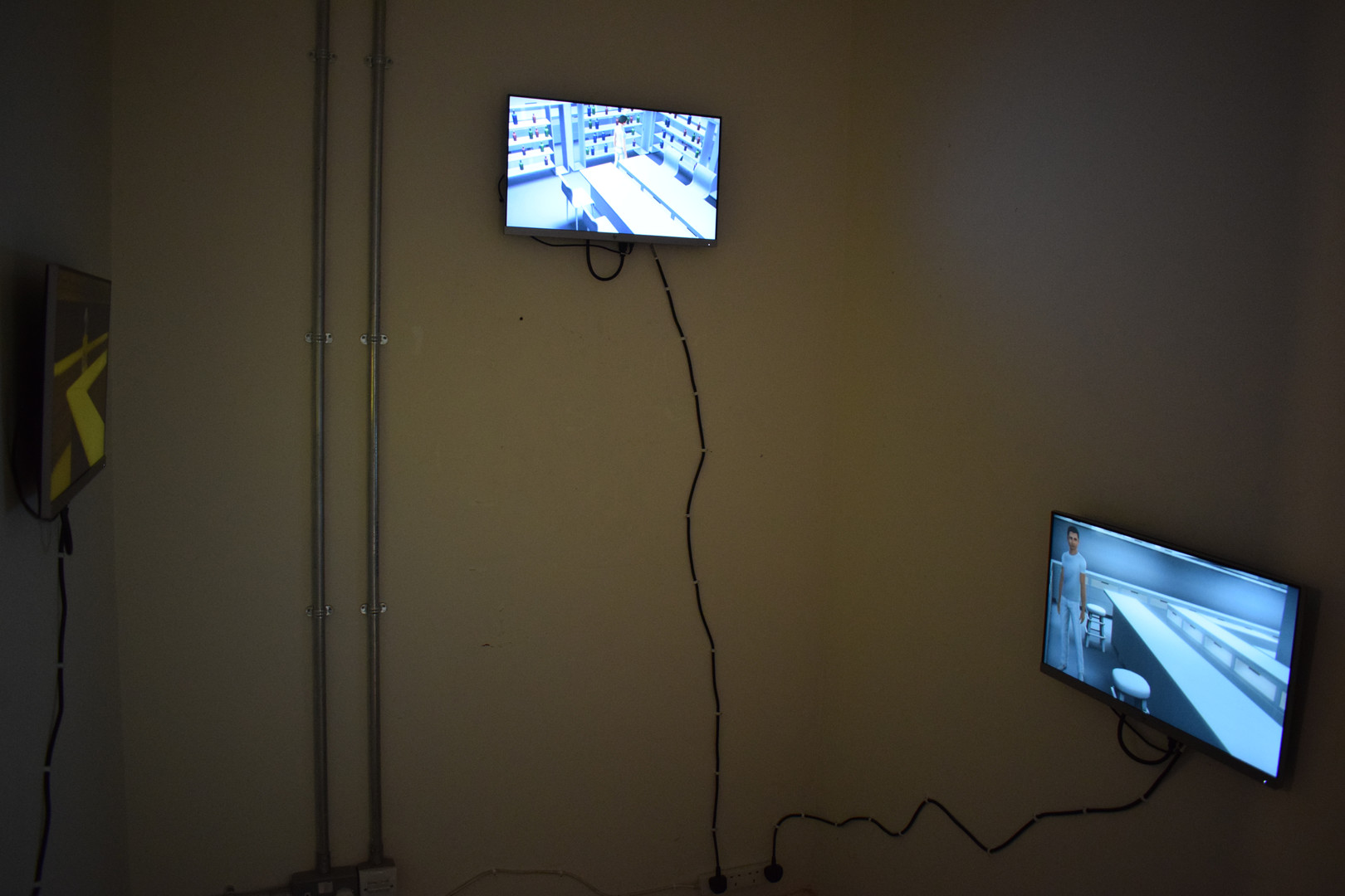 Installation view of Safe Haven and Self Soothing, 2019. Edinburgh College of Art Degree Show.