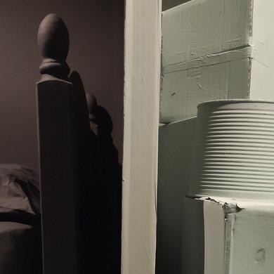 Secret Room, Hidey Hole, 2020. RSA New Contemporaries 2020, Royal Scottish Academy, Edinburgh. Paint supplied by Earthborn Paints