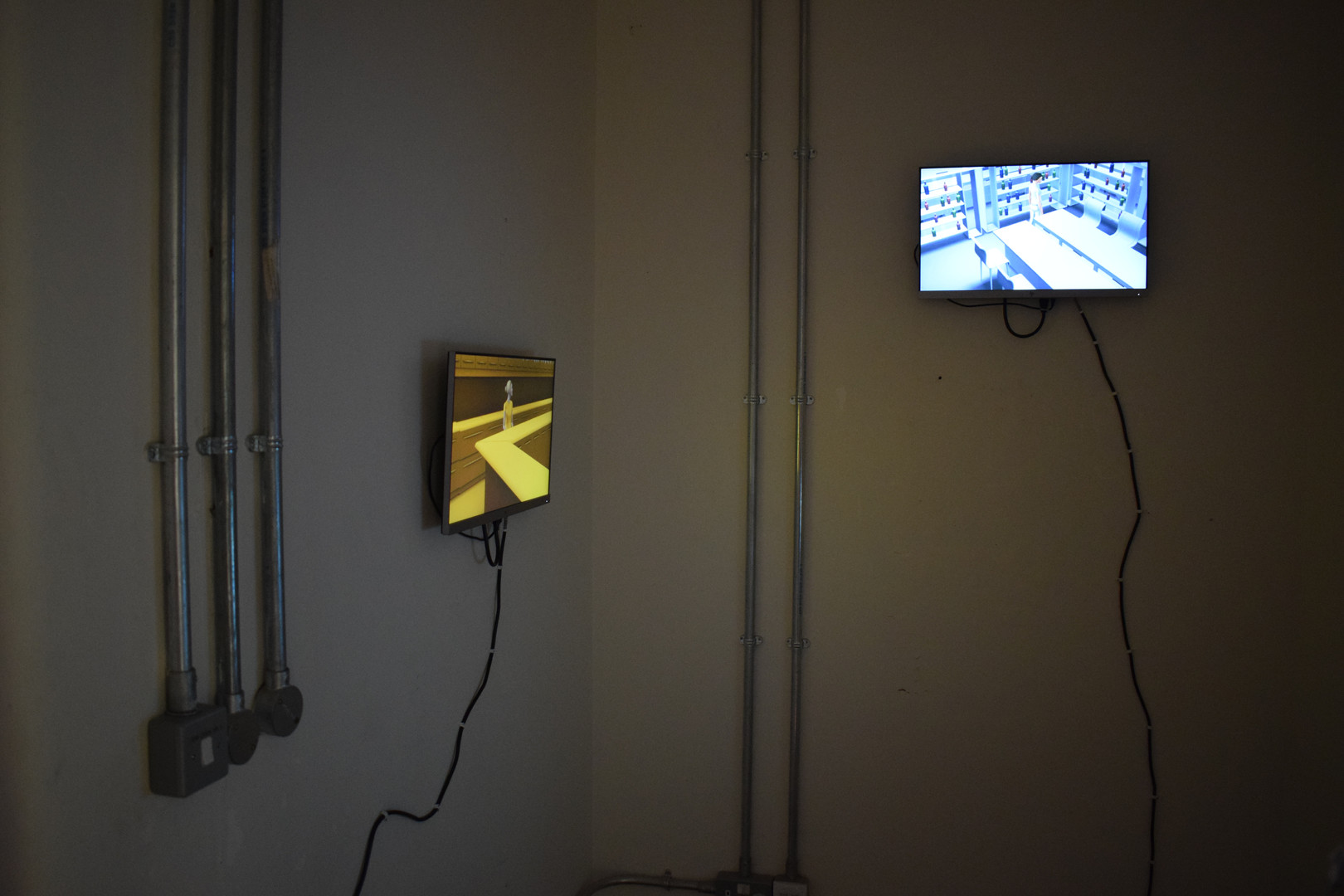 Installation view of Kernel of Truth and Safe Haven, 2019. Edinburgh College of Art Degree Show.