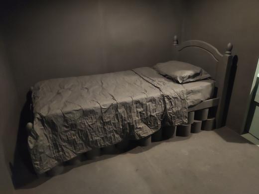 Hidey Hole, Secret Room, 2020. RSA New Contemporaries 2020, Royal Scottish Academy, Edinburgh.Paint supplied by Earthborn Paints