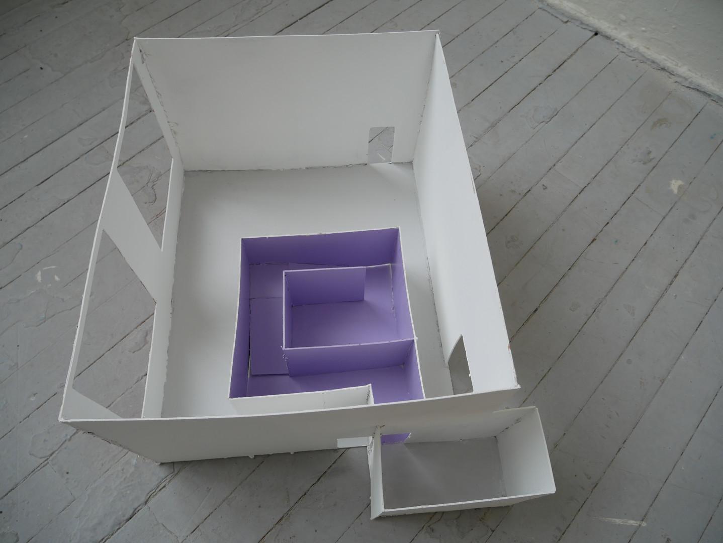 Safe Haven Interior / Exterior, 2019. Edinburgh College of Art.