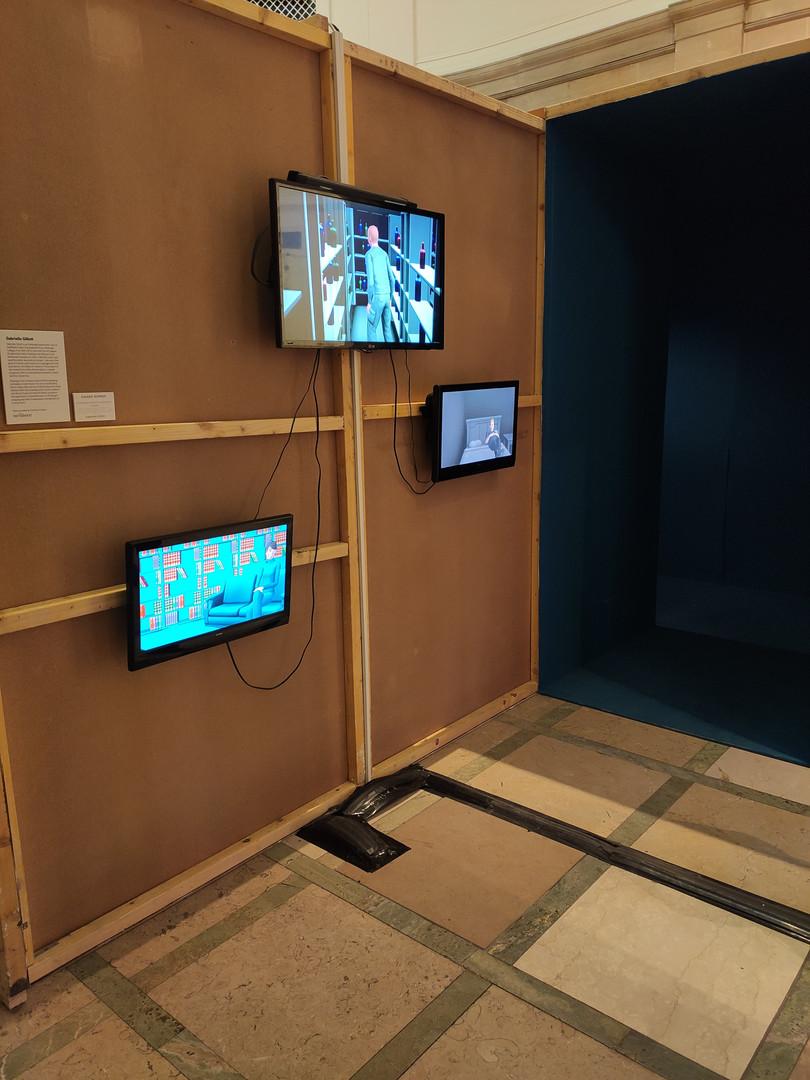 Secret Room, Hidey Hole, Reading Room, 2020. RSA New Contemporaries 2020, Royal Scottish Academy, Edinburgh.Paint supplied by Earthborn Paints