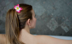 Woman in Jacuzzi