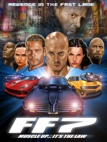 Fast Furious7 Fan Art Poster