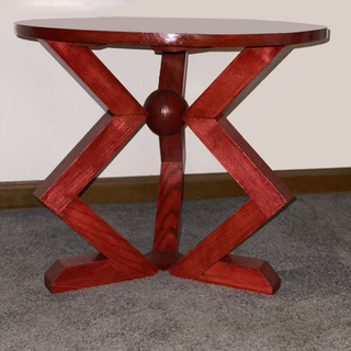 """""""Tripod Side Table in Red"""""""