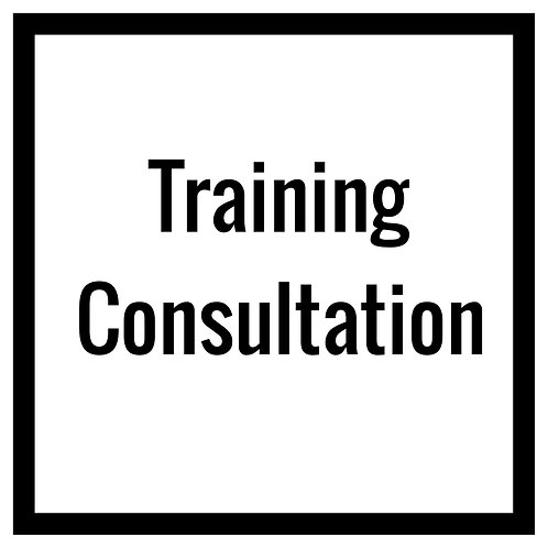 One Time Training Consultation