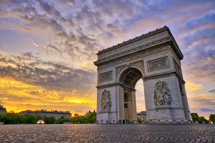 Arc de triomphe, Paris, France.