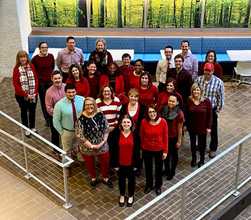 Wear Red Day at EB Cohen