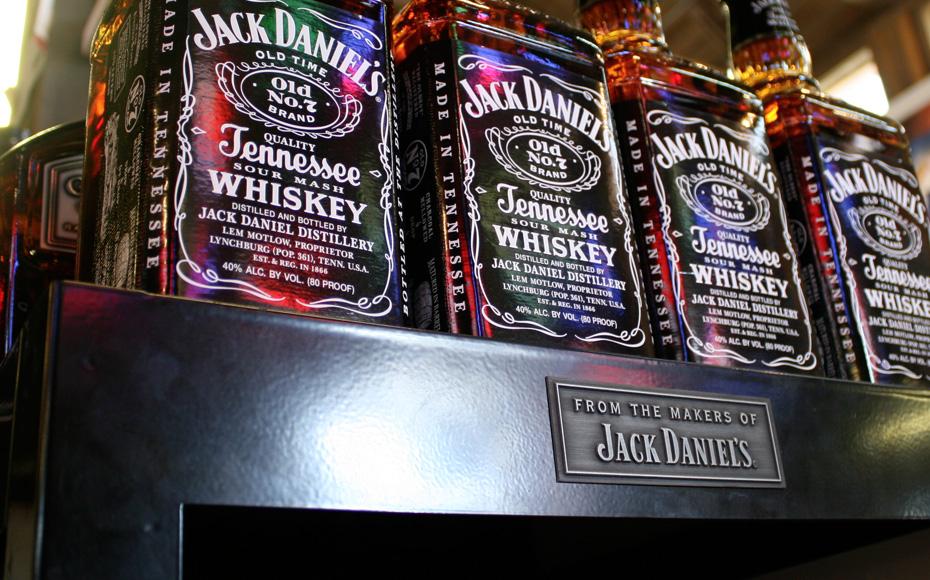 Jack Daniels Cube Display