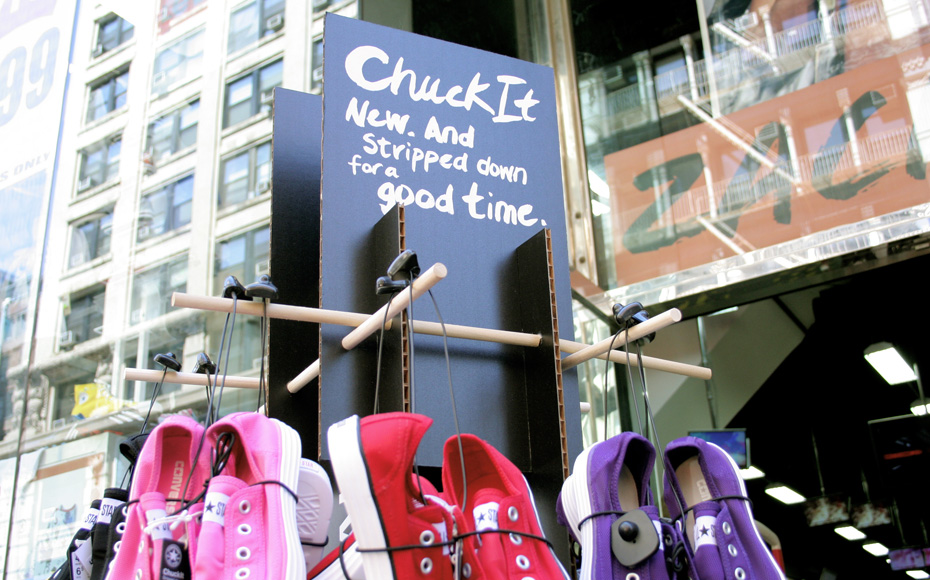 ChuckIt Semi-Permanent Display