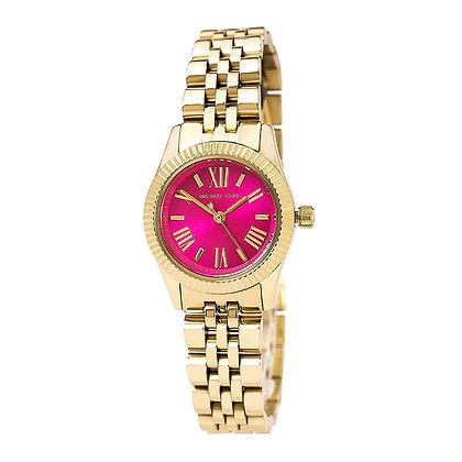 549c5d385af8 Michael Kors Mini Lexington Pink Dial Gold-tone Ladies Watch MK-3270