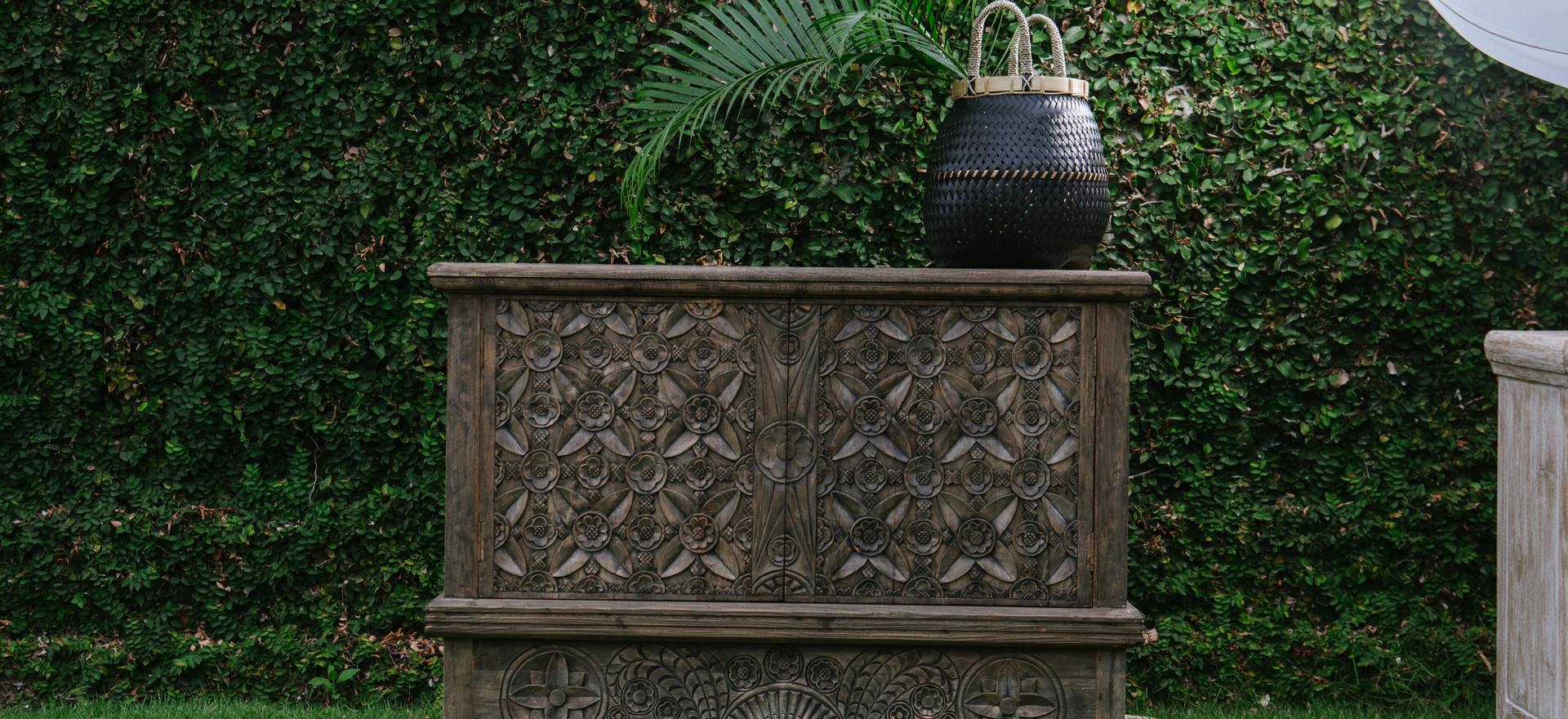Hand Carved Buffet Table