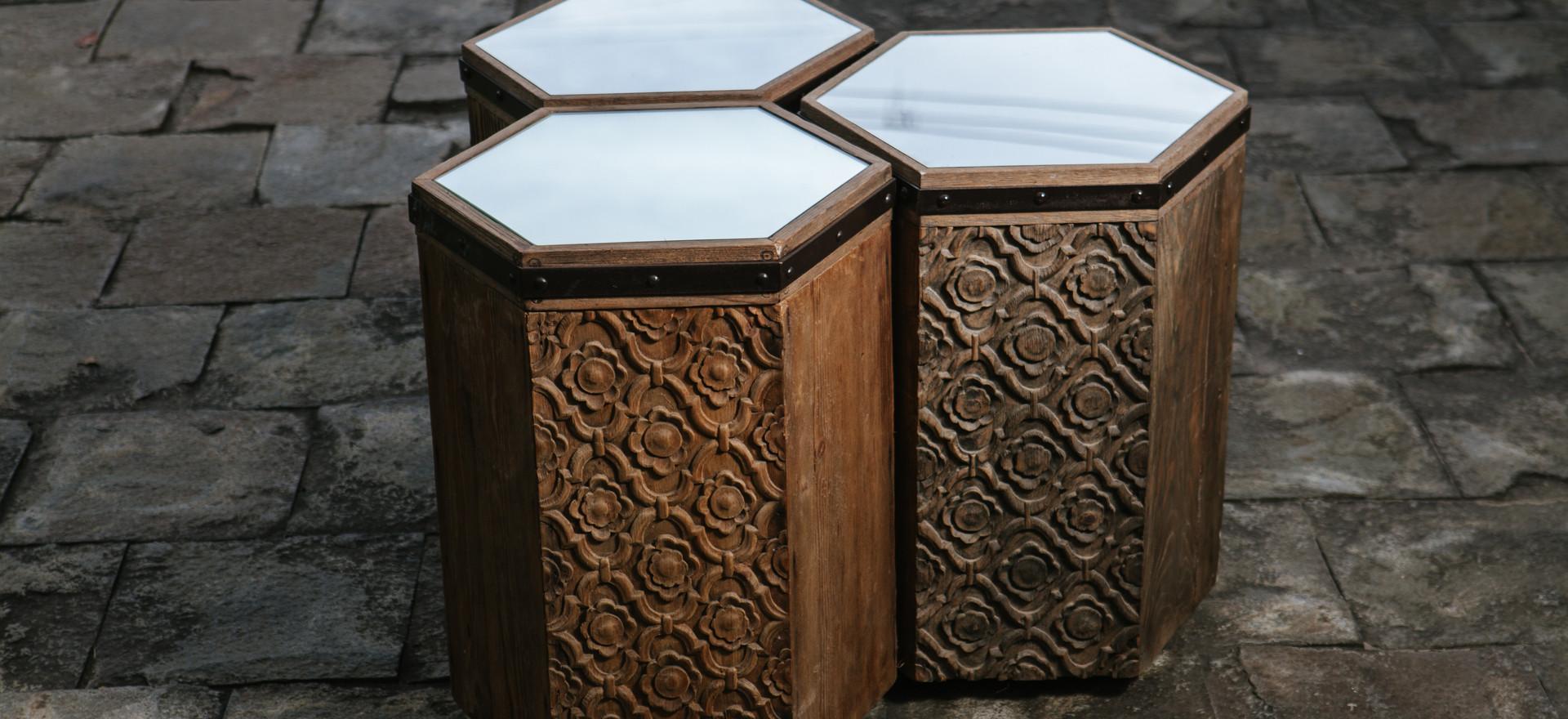Lotus side Tables