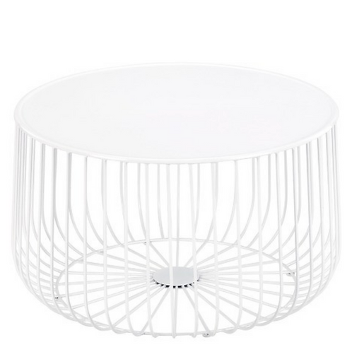 CAGE COFFEE TABLE - WHITE