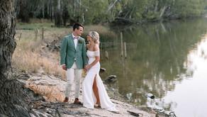 KAYTE + CLAYE - BAROOGA, NSW | REAL WEDDING