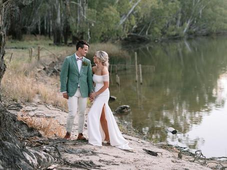 KAYTE + CLAYE - BAROOGA, NSW   REAL WEDDING