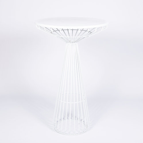 WHITE CAGE COCKTAIL TABLE
