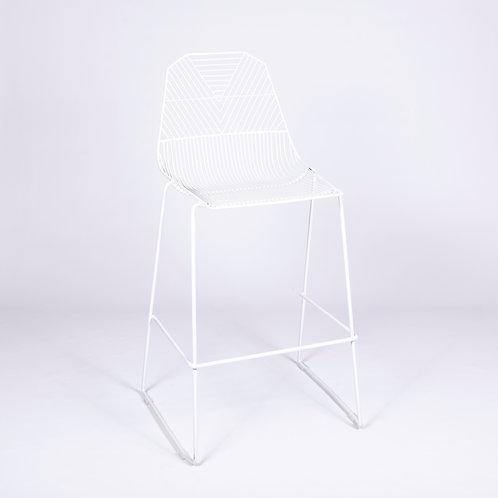 WHITE ARROW STOOL