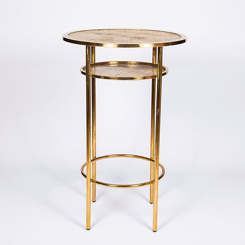 'SOHO' TALL COCKTAIL TABLE - GOLD