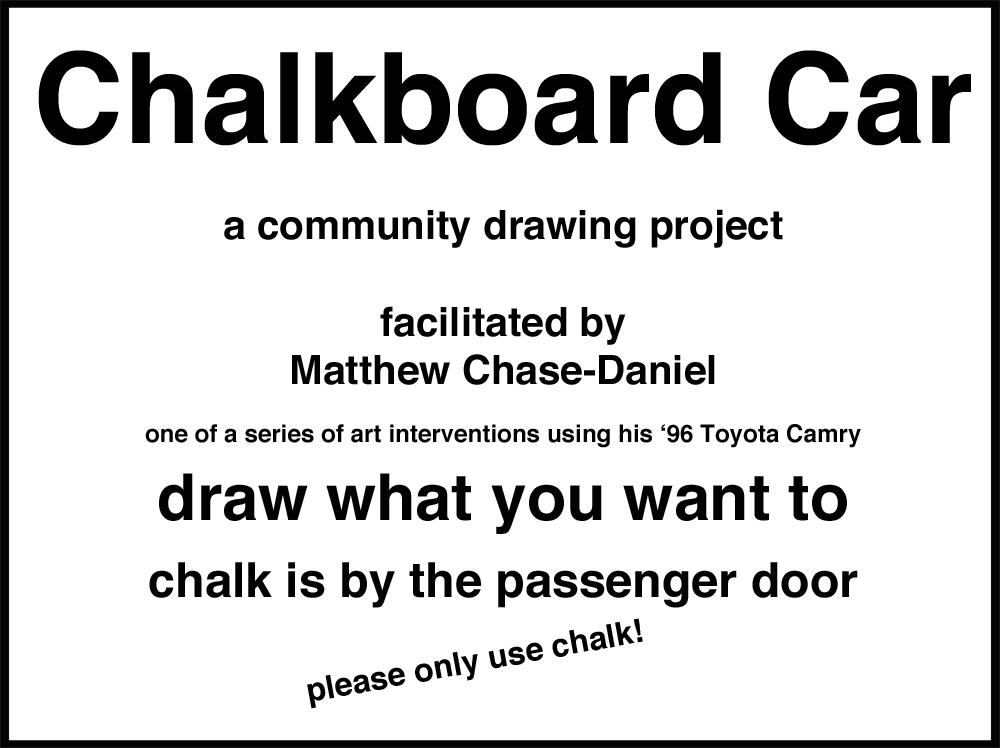Chalkboard Car