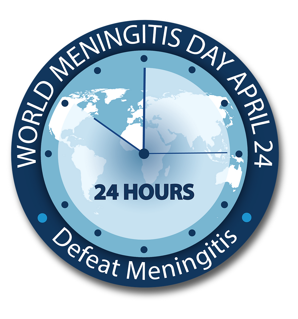 World Meningitis Day 2020 logo #DefeatMeningitis