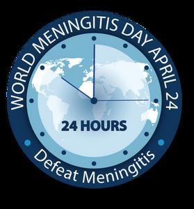 World Meningitis Day 2020 logo #DefeatMeningitis