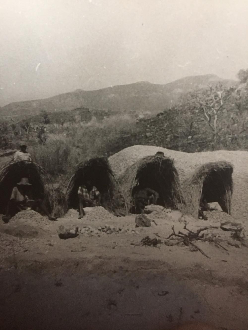 Mud huts