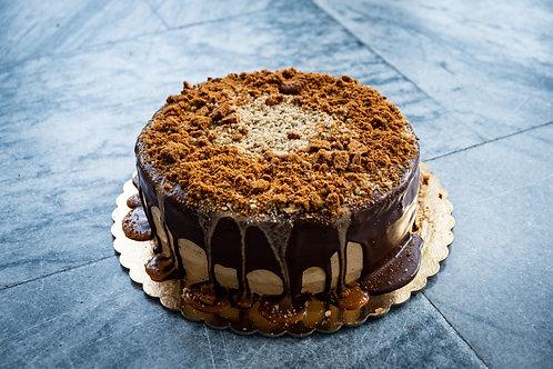 Ořechový dort s karamelovým krémem